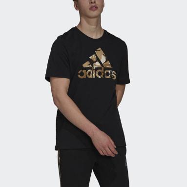 Camiseta Essentials Camouflage Print Negro Hombre Sportswear