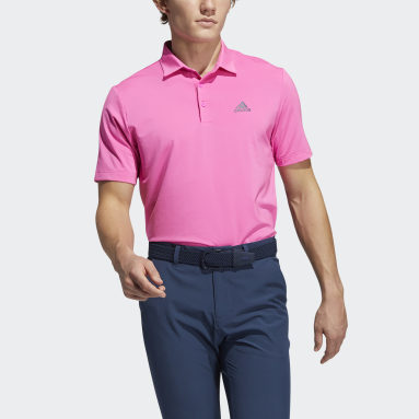 Men Golf Pink Ultimate365 Solid Left Chest Polo Shirt
