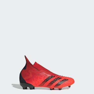 Děti Fotbal červená Kopačky Predator Freak+ Firm Ground