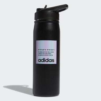 Boxing Black Steel Straw Metal Bottle 600 ML