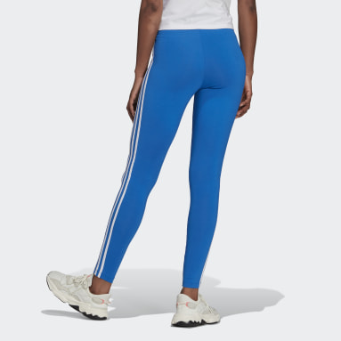 Licras Adicolor Classics 3 Rayas Azul Mujer Originals