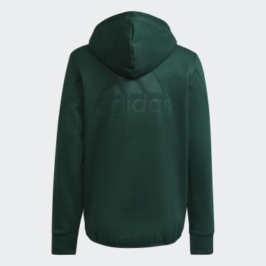 Casaco com Capuz em Fleece Designed to Move (Unissexo) Verde Criança Ginásio E Treino