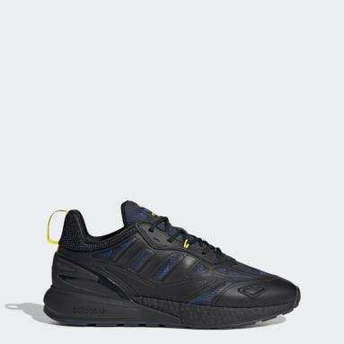 Men Originals Black Manchester United ZX 2K Boost 2.0 Shoes