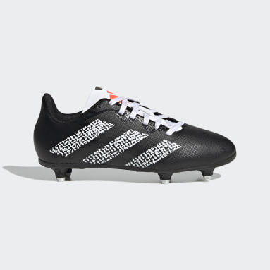 Kids Rugby Black Rugby SG Boots