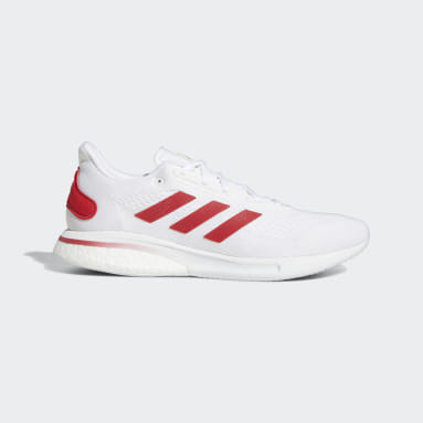 Running White Supernova Shoes