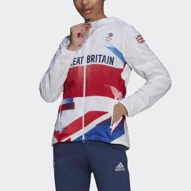 Women Gym & Training White Adizero Marathon Jacket