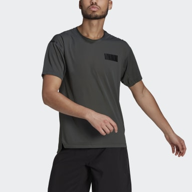 Men's Trail Running Green Agravic Trail All-Around Parley Tee