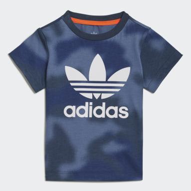 Camiseta Allover Print Camo Azul Niño Originals