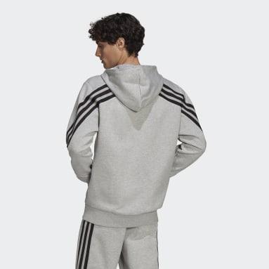Chaqueta con capucha adidas Sportswear Future Icons 3 bandas Gris Hombre Sportswear