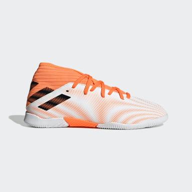 Kids Futsal White Nemeziz.3 Indoor Boots