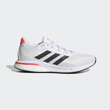 Kids Running White Supernova Primegreen Boost Running Shoes