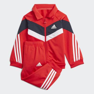 Børn Fitness Og Træning Rød Future Icons Shiny træningsdragt