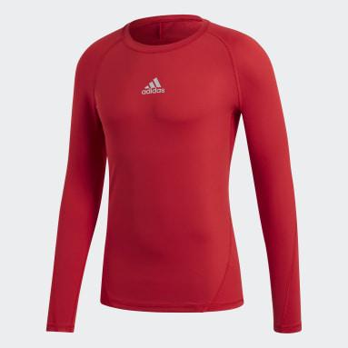 Heren Voetbal Rood Alphaskin Sport T-shirt