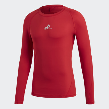 Camiseta Alphaskin Sport Rojo Hombre Fútbol