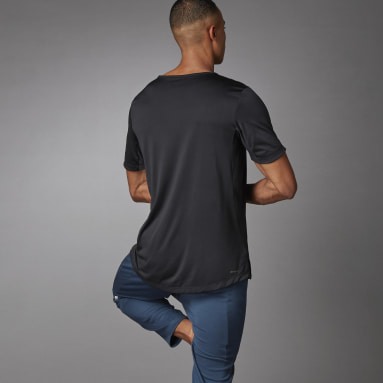 Camiseta AEROREADY 3-Stripes Flow Primeblue Preto Homem Training