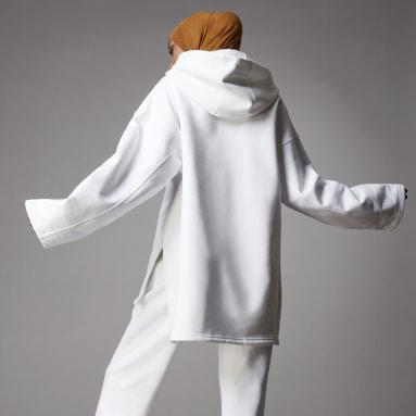 Sweat-shirt à capuche Adicolor Fleece Blanc Femmes Originals