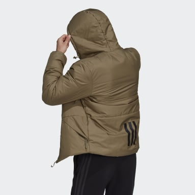 Men City Outdoor Green BSC Insulated Hooded Jacket
