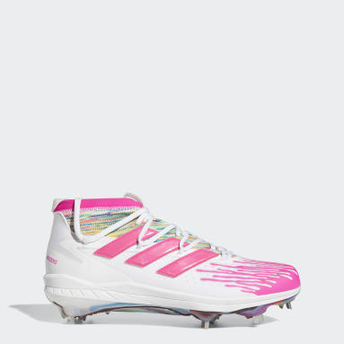 Men's Baseball White Adizero Afterburner 8 NWV Dripped-Out Cleats