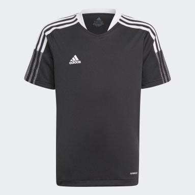 Børn Fodbold Sort Tiro 21 træningstrøje
