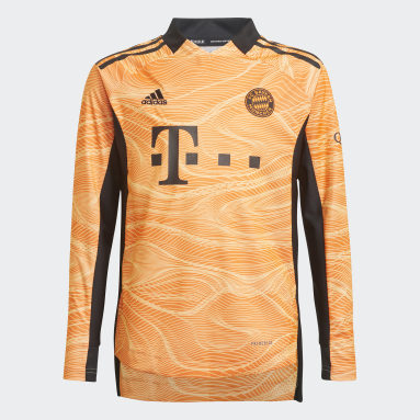 Youth 8-16 Years Football Orange FC Bayern 21/22 Goalkeeper Jersey