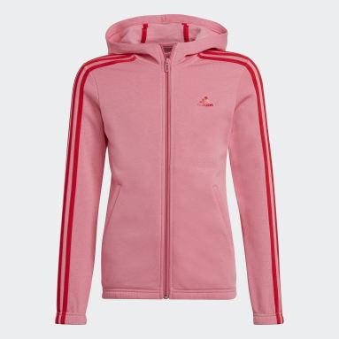 розовый Толстовка adidas Essentials 3-Stripes