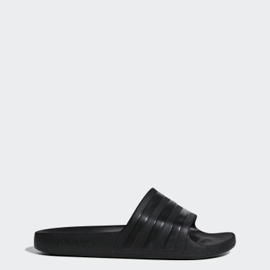 ว่ายน้ำ สีดำ รองเท้าแตะ Adilette Aqua