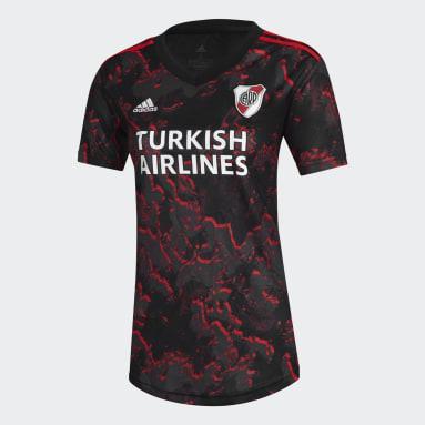 Camiseta Visitante River Plate 21/22 Negro Mujer Fútbol