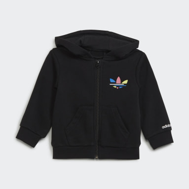 Infant & Toddler Originals Black Adicolor Full-Zip Hoodie Set