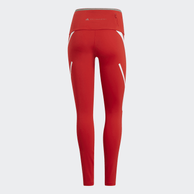 красный Леггинсы для бега adidas by Stella McCartney