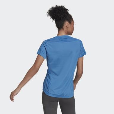Frauen Running Own the Run T-Shirt Blau