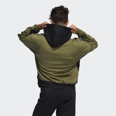 Sweat-shirt à capuche adidas SPRT Material Mix vert Hommes Originals