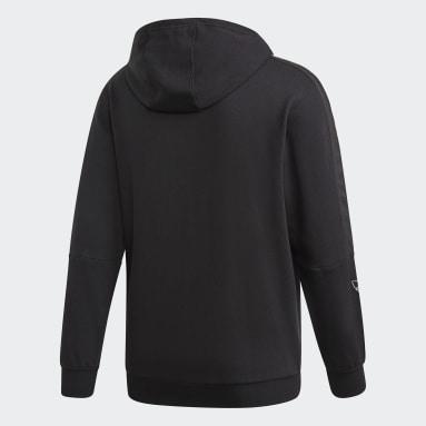 Sweat-shirt à capuche Outline Noir Hommes Originals