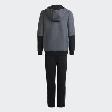 3-Stripes Jogger Hooded Track Suit Szary