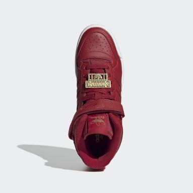 Zapatillas Forum Mid Rojo Mujer Originals