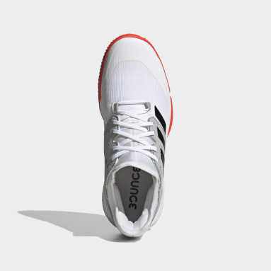 Chaussure Court Team Bounce Indoor Blanc Fitness Et Training