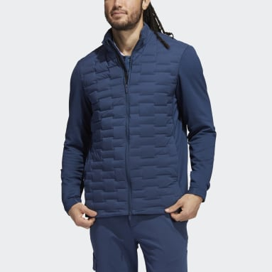 Men Golf Blue Frostguard Recycled Content Full-Zip Padded Jacket