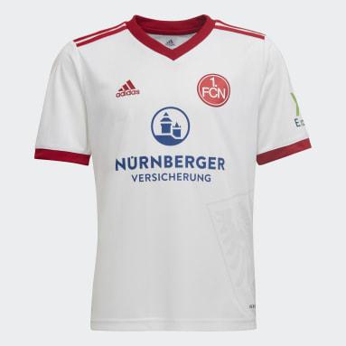 Børn Fodbold Hvid 1. FC Nürnberg 21/22 udebanetrøje