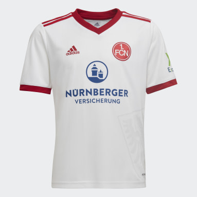 Youth 8-16 Years Football White FC Nürnberg 21/22 Away Jersey
