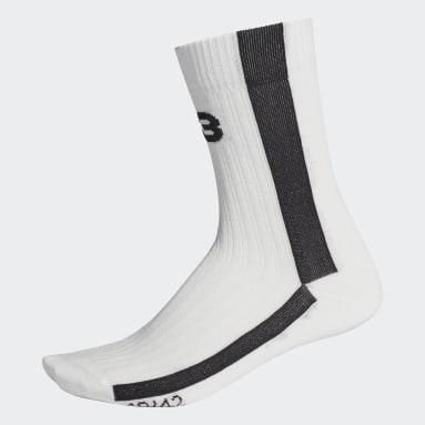 Y-3 White Y-3 Logo Socks