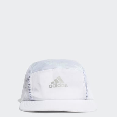 Training White Breathable Running Training Five-Panel Hat