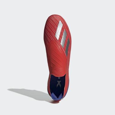 Calzado de fútbol X 18+ Soft Ground Rojo Hombre Fútbol
