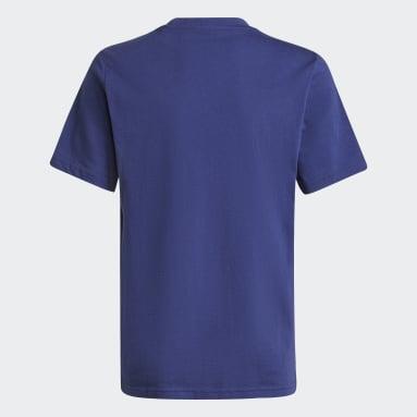 T-shirt Allover Print Camo Graphic Bleu Garçons Originals