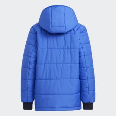 Youth 8-16 Years Gym & Training Blue Padded Winter Jacket