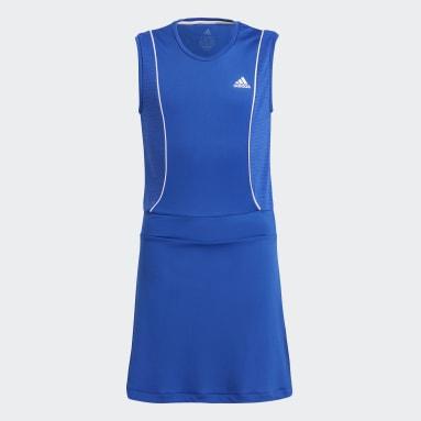 Youth Tennis Blue Tennis Pop-Up Dress