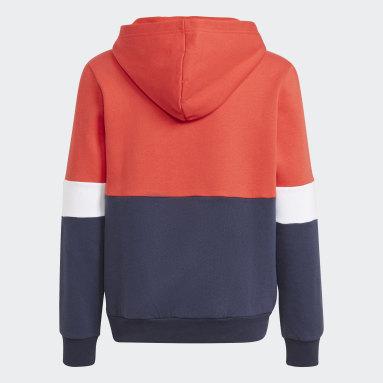 Sudadera con capucha adidas Colorblock Azul Niño Sportswear