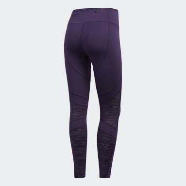 Women's Running Purple How We Do 7/8 Light Tights