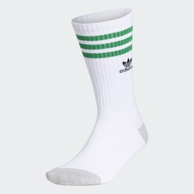 Men's Originals White Recycled Roller Crew Socks