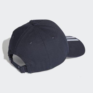 Field Hockey Blue Baseball 3-Stripes Twill Cap