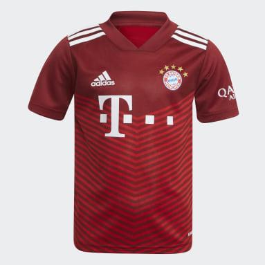 Divisa Mini Home 21/22 FC Bayern München Rosso Bambini Calcio