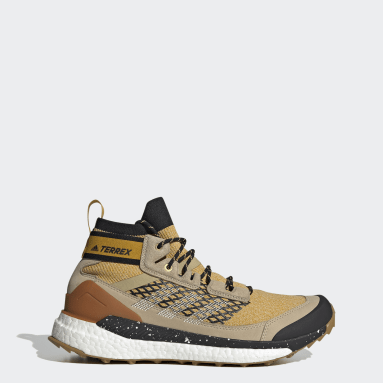 Men TERREX Gold Terrex Free Hiker Blue Hiking Shoes